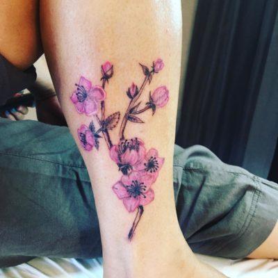 Tattoo branche de cerisiermollet
